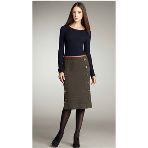 Tory Burch Combo Dress Doreen Navy Merino Wool